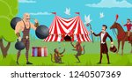 circus show  tent and funfair ...   Shutterstock .eps vector #1240507369