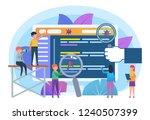 computer bug  virus tracking ...   Shutterstock .eps vector #1240507399
