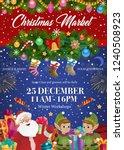 christmas market  xmas tree and ... | Shutterstock .eps vector #1240508923