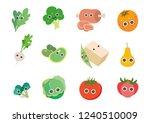 cook  food  vegetable... | Shutterstock .eps vector #1240510009