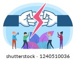 conflict  fight  opposition in... | Shutterstock .eps vector #1240510036