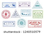Christmas Letters Stamps  Santa ...
