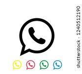 Call Vector Icon  Whatsapp Logo ...
