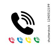 call vector icon on white... | Shutterstock .eps vector #1240512199