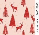 christmas forest landscape... | Shutterstock .eps vector #1240512283