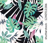 abstract tropical pattern from... | Shutterstock .eps vector #1240512286