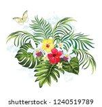 tropical summer illustration... | Shutterstock .eps vector #1240519789
