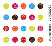 set of different web icons | Shutterstock .eps vector #124052050