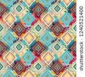 ethnic seamless pattern. tribal ... | Shutterstock .eps vector #1240521400