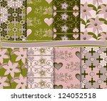 abstract vector set of paper...   Shutterstock .eps vector #124052518