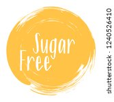 sugar free icon  package label... | Shutterstock .eps vector #1240526410