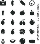 solid black vector icon set  ... | Shutterstock .eps vector #1240534003