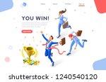 cup challenge reward  top prize ... | Shutterstock .eps vector #1240540120