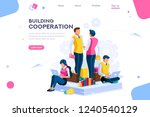 message for cooperation  graphs ... | Shutterstock .eps vector #1240540129