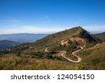mountain view take form chiang...   Shutterstock . vector #124054150
