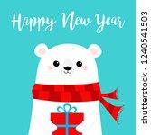 happy new year. polar white... | Shutterstock .eps vector #1240541503