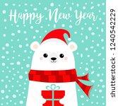 happy new year. white polar... | Shutterstock .eps vector #1240542229