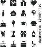 solid black vector icon set  ... | Shutterstock .eps vector #1240544410