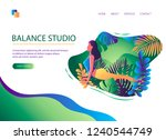 web page template of yoga... | Shutterstock .eps vector #1240544749