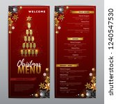 christmas menu design with...   Shutterstock .eps vector #1240547530