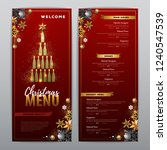 christmas menu design with...   Shutterstock .eps vector #1240547539