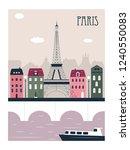 paris city travel background | Shutterstock . vector #1240550083