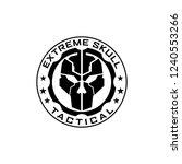 extreme tactical gear skull logo   Shutterstock .eps vector #1240553266