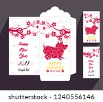 chinese new year red envelope... | Shutterstock . vector #1240556146