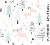 cute hand drawn nursery...   Shutterstock .eps vector #1240556890