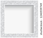 square vector frame with white... | Shutterstock .eps vector #1240559749
