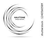 halftone vortex circle frame...   Shutterstock . vector #1240560589