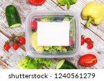 organic salad inside plastic... | Shutterstock . vector #1240561279