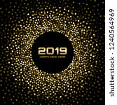 new year 2019 card background.... | Shutterstock . vector #1240564969