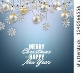 merry christmas happy new year... | Shutterstock .eps vector #1240566556