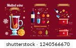 how to make mulled  wine ... | Shutterstock .eps vector #1240566670