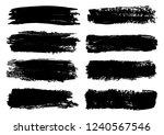 vector set of black brush...   Shutterstock .eps vector #1240567546