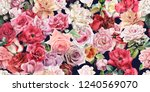 seamless floral pattern with... | Shutterstock . vector #1240569070