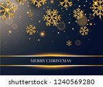 merry christmas. golden glitter ... | Shutterstock .eps vector #1240569280