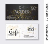 voucher template with color... | Shutterstock .eps vector #1240569286