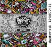 cartoon vector doodles design... | Shutterstock .eps vector #1240570456