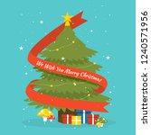 flat christmas illustration | Shutterstock .eps vector #1240571956