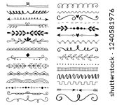 hand drawn set of line border... | Shutterstock .eps vector #1240581976