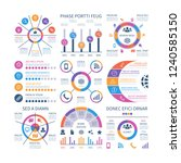 infographics. marketing graphs... | Shutterstock .eps vector #1240585150