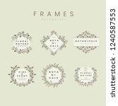 set of botanical frame design... | Shutterstock .eps vector #1240587553