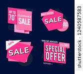 shop sale promotion... | Shutterstock .eps vector #1240587583