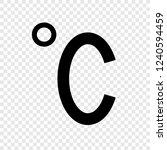 degree celsius icon transparent ... | Shutterstock .eps vector #1240594459