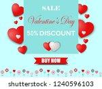valentine's day sale for banner ... | Shutterstock .eps vector #1240596103
