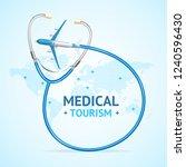 medical tourism concept banner... | Shutterstock .eps vector #1240596430