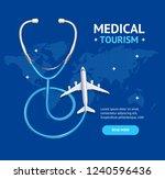 medical tourism concept banner... | Shutterstock .eps vector #1240596436