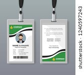 elegant id card template with... | Shutterstock .eps vector #1240597243